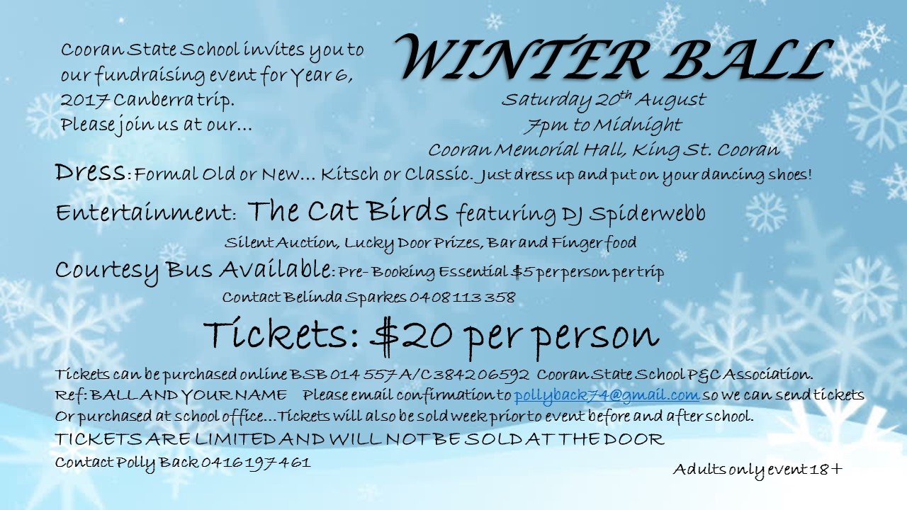 cooran state school winter ball cooranhall org au