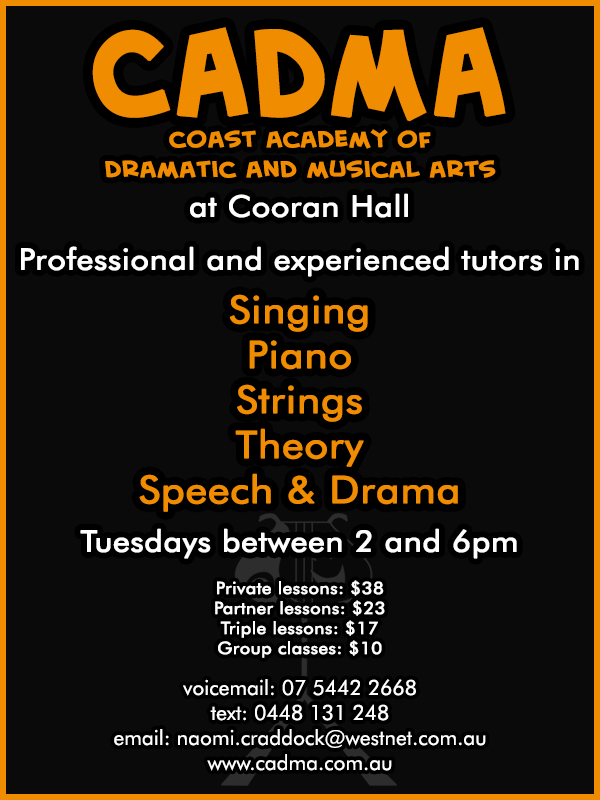 Cooran-Hall-What's-On-Classes-CADMA-Music-Drama-Lessons