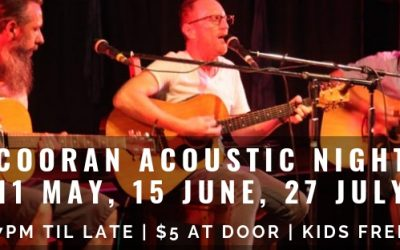 11 MAY 2019, 6.30PM Cooran Acoustic Night
