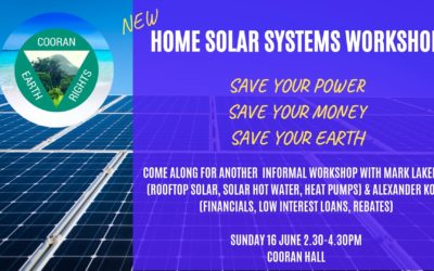 16 JUNE, 2019 2.30-4.30PM Home Solar Systems Workshop