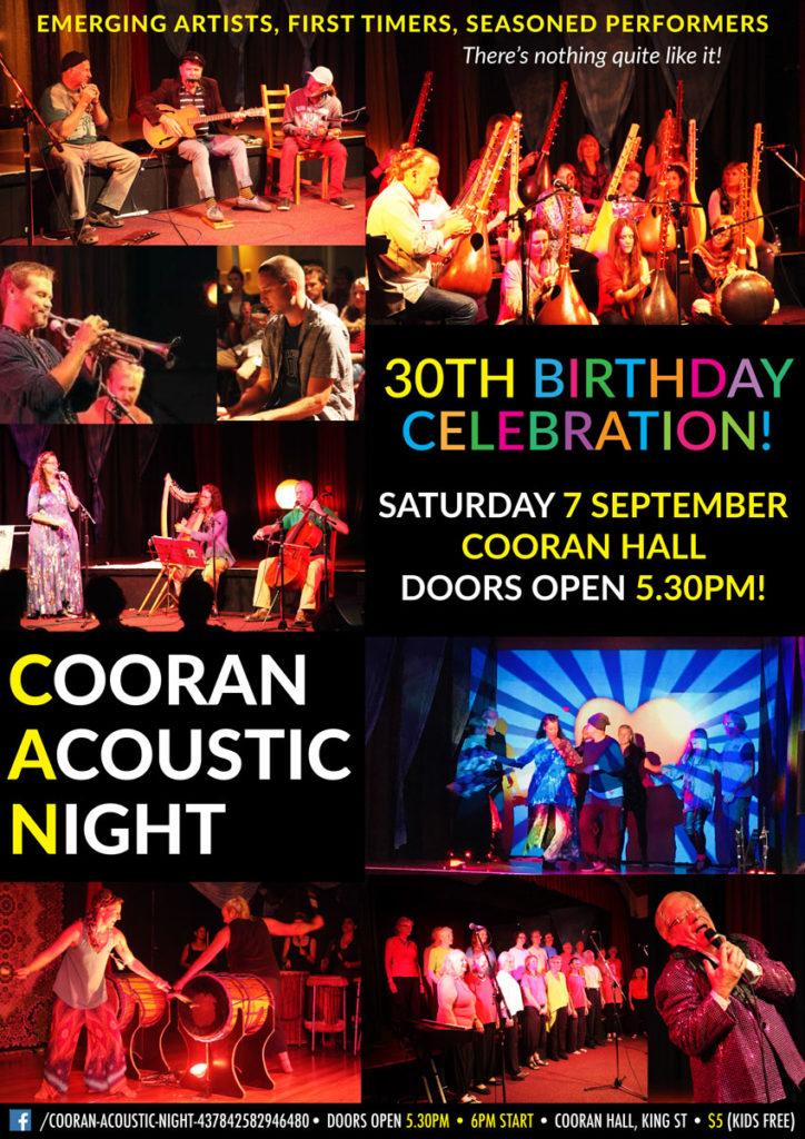 Cooran-Acoustic-Night-30th-Birthday-Cooran-Hall