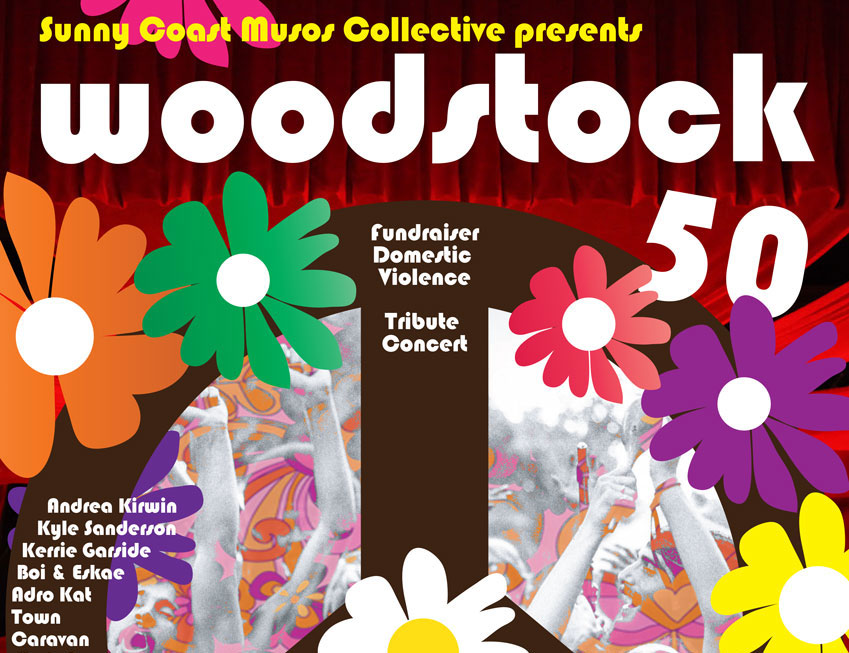 17 AUGUST 2019 – Woodstock 50! From 6pm.