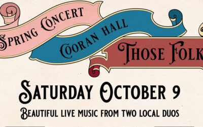 9 Oct, from 7pm – Spring Concert Cooran with local duos Those Folk & Steve & Ainsley Apirana